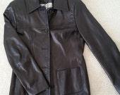 Vintage Leather Jacket (size: S)