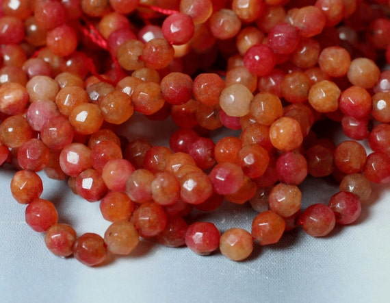 Candy jade faceted round 4mm firebrick red, 36 pcs (item ID CJ4mRR2)
