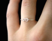 Tiny Infinity Knot ring in Sterling Silver, One Single Silver ring, silver knot ring, silver stacking ring, knot ring, infinity ring