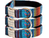 Personalized Southwestern Dog Collar - Woven Engraved Dog Collar - Woven Osage