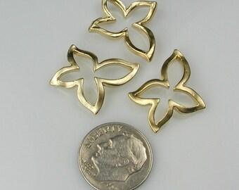 Matte Gold Butterfly pendants, Golden Bell Flower connectors, Earring Findings
