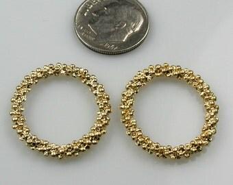 Matt Gold Oval Bubble Ring or Pendant Destash