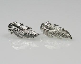 Silver Blade Leaf Earring Destash