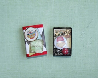 Tea Time Themed Alice in Wonderland Matchbox with Goodies