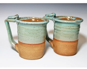 Sea Foam, Turquoise 20-24oz mug, Handmade mug, beer stein, for her, for him, Ready to ship