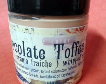 Whipped Soap Chocolate Toffee Fluff 8 oz Creme Fraiche