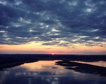 Lake Travis Sunset - Austin Texas Photograph