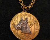 GREAT DANE ANGEL Locket Necklace Jewelry: Pendant. Gifts for Great Dane Lovers. Memorial Remembrance Sympathy Gift