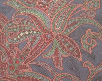 Vintage Blue Paisley Tablecloth - No Iron Cotton Blend