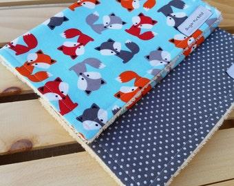 Burp Cloths / Baby Burp Cloth Sets / Burp Rags / Fox Burp Cloths / Baby Gifts / Baby Shower Gift