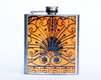 HIP FLASK - Gramercy Gate Photo Flask, 6 ounce flask