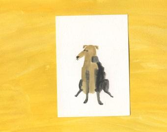 Original dog painting portrait - 100 Hideous Hounds - No. 76