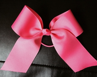 Cheer Bow in Hot Pink