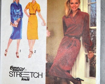 Vintage 1979 Sewing Pattern Simplicity 9196 Misses' Pullover Dress Bust 30-34 inches Complete UNCUT