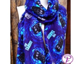 Tardis Scarf, Doctor Who scarves, Geek scarves, fleece scarves, Sci if scarves, men's scarves, women's scarves Warm scarves straight scarf