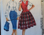 "SALE - Vintage 1960 McCall's Teen and Juniors Separates Pattern #5520 Size 13 Bust 33"" - WV"