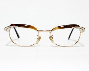 Serge Kirchhofer vintage eyeglasses model SK 20 in NOS condition - Udo Proksch eyewear - gold filled frame - 1/1012 kgf - browline