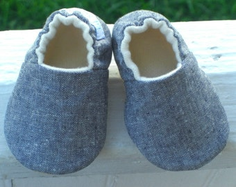 Baby Shoes, Baby Slippers, Denim Linen, Baby Slippers, Soft Sole Baby Shoes, Gender neutral