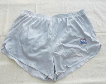 Marathon Running Shorts Nylon Jogging Short Short Vintage 70s Mens Large