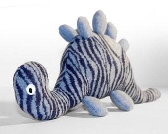 Sock Dinosaur - Blue