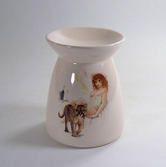 tart warmer wax melt tea light holder nude risque pinup girl. Black Bedroom Furniture Sets. Home Design Ideas