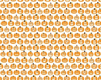 SALE Halloween Magic Halloween fabric by Riley Blake and Fabric Shoppe - Halloween Pumpkins in Orange- You Choose The Cut
