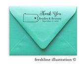 Return Address Stamp, Self-Inking Address Stamp, Custom Stamp, Thank you, Style #8