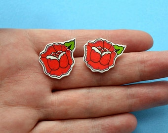 Tattoo Rose - Earrings