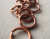 Copper Jump Ring Oxidized Copper Ring 14mm Open Ring Connector Item No. 9417 0420