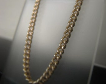 Gold Chain Necklace Gold Curb Chain Bracelet 3mm Gold Plate Chain By the Foot Item No. 9938