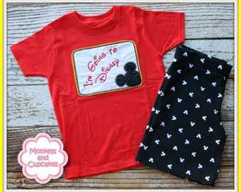 Boys Custom I'm Going to Disney Mickey Applique set 12m - 8 MDCT Boutique