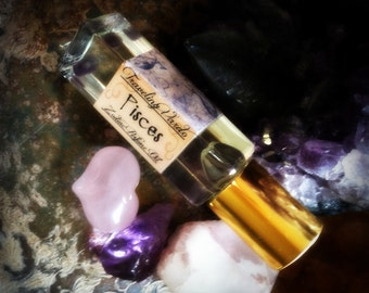 Pisces Zodiac Blend Perfume Oil - Amber Sandalwood Neroli Musk Asian Florals