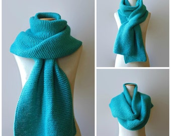 Blanket Scarf, Oversize Scarf, Man Scarf, Knit Scarf, Chunky Knit Scarf, Turquoise Scarf, Extra Long Scarf, Huge Scarf, Womens Scarves