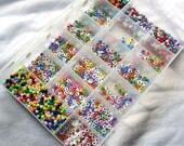 Colorful Plastic Letter Bead Assortment Kit