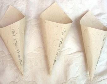 Wildflower Seeded Petal Paper Cones - 20 Cones