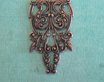 NEW Antique Copper Filigree Finding 3704C