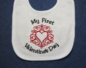 My First Valentine's Day-  Heart - Custom Orders Welcome....