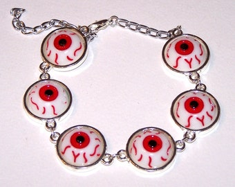 all-seeing red eyes bracelet
