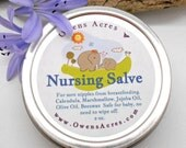 Nursing Salve for Breast Feeding Moms - New Baby, Baby Shower, Breast, Nipple Salve, Breast Feeding, All Natural, New Mom