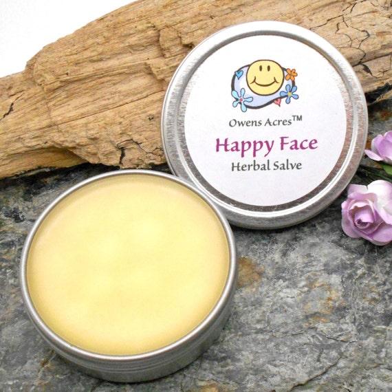 Happy Face Herbal Skin Salve for Wise Women - Dark Spots, Dry Skin, Age Lines, Sun Damage, Over 50 Skin, Herbal Salve