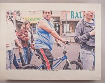 Cheap Shots: Guy on Bike at Street Fair