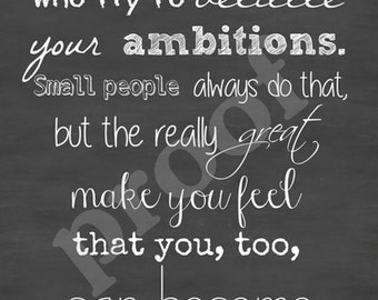 Large 24x36 OR Medium 18x24 Mark Twain Quote Keep Away Chalkboard Style Typography Sign Board