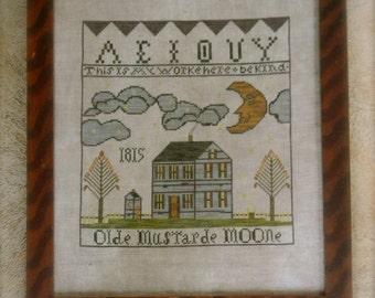 Olde Mustarde Moone ~ paper cross stitch PATTERN ~ from ©Notforgotten Farm