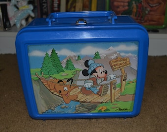Vintage Mickey Mouse and Pluto Retro Lunchbox
