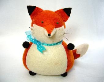 Cute Fox Fox Pin Cushion Stuffed Felt Fox Orange Fox Fox Home
