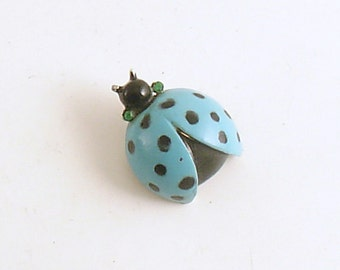 Vintage Ladybug Brooch Lady Bug Pin Nemo Costume Jewelry