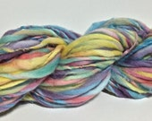 Handspun Yarn - Super Bulky Weight American Merino - 60 yards of 'Lady of the Flowers'