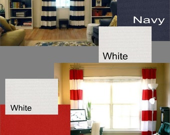 Custom Nautical Drapes You pick the Fabric - Lined