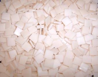 Mini Peach Blush Tumbled Stained Glass Mosaic Tiles