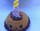Chocolate birthday cake amigurumi